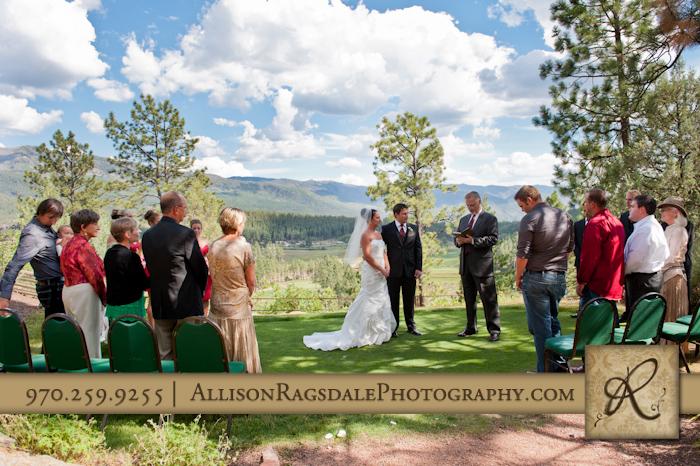 durango wedding ceremony at the glacier club