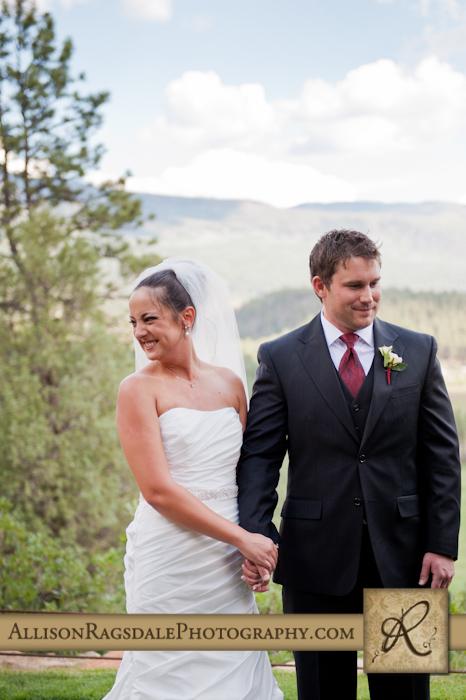 newlyweds at durango wedding ceremony at the glacier club