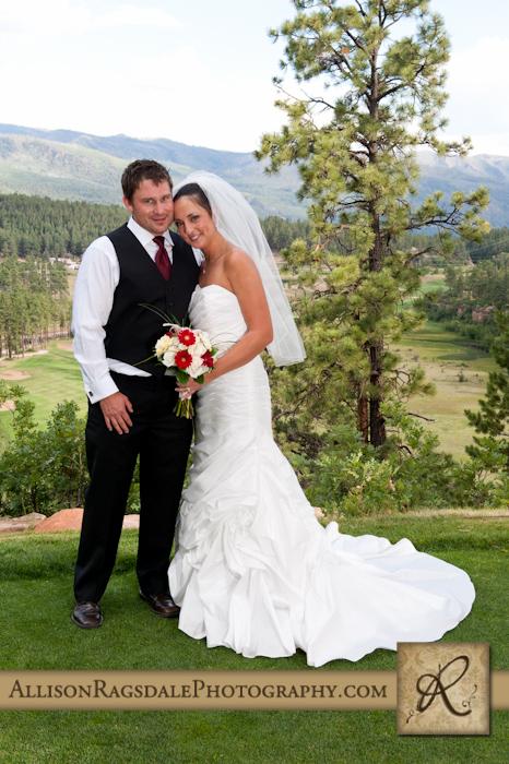 bride and groom portrait at the glacier club in durango colorado