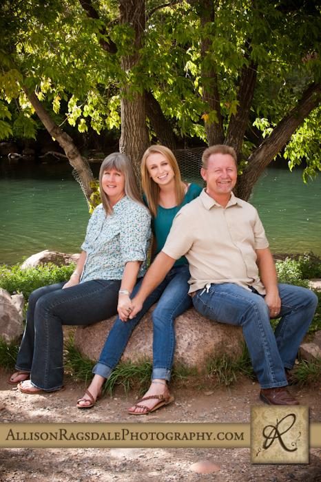 family portrait by animas river