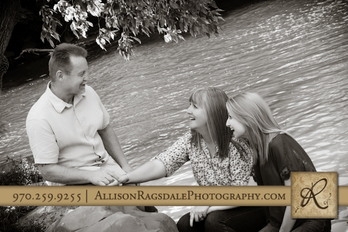 family picture by river in durango