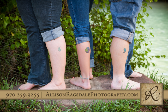 family picture of matching tattoos