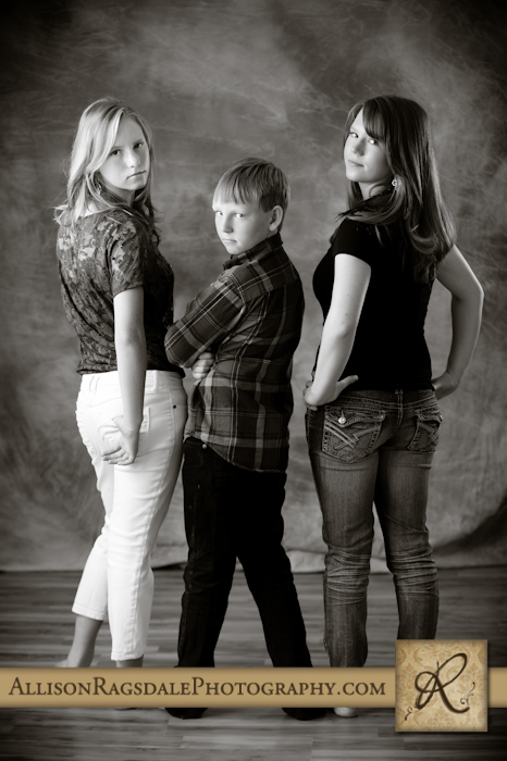 black and white studio serious sibling picture durango co