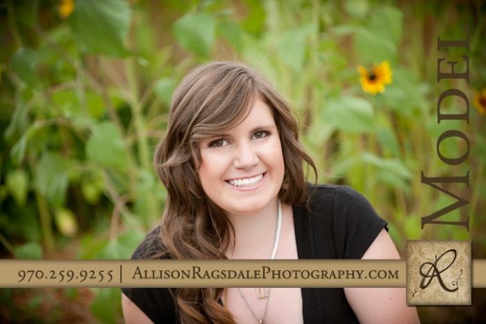senior picture in sunflowers by durango senior portrait photographer