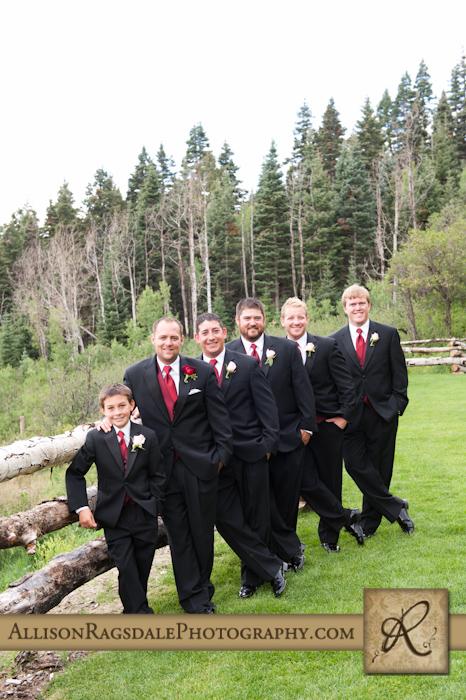 groom and his groomsmen at thunder ridge durango co