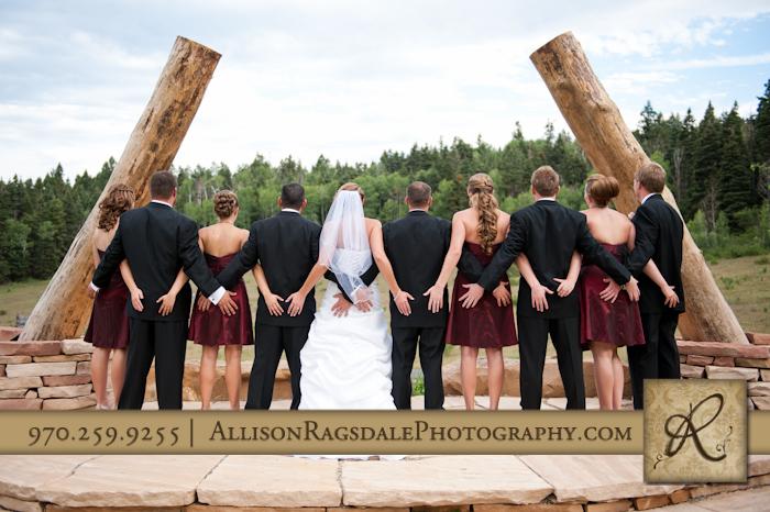 wedding party at thunder ridge durango colorado