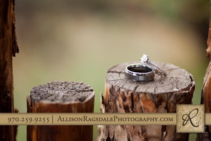 wedding rings at blue lake ranch hesperus colorado
