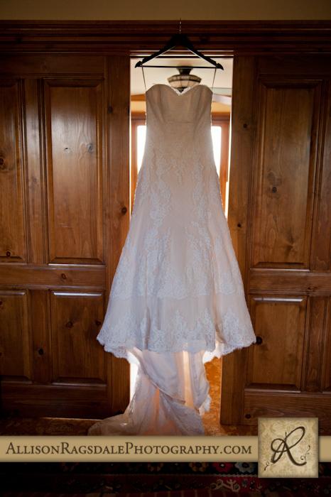 wedding dress at blue lake ranch durango co