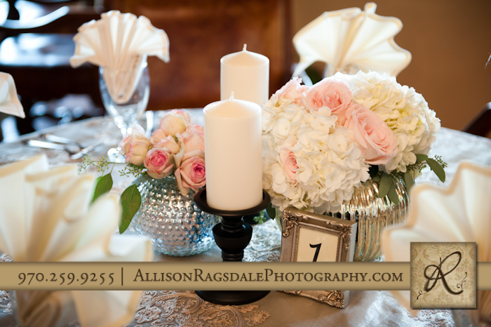 table setting for wedding reception at blue lake ranch