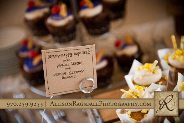 the yellow carrot cupcakes wedding reception kendal mountain silverton co