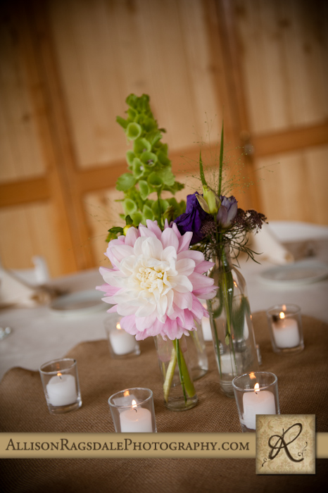 aprils garden centerpieces wedding reception at kendal mountain silverton co