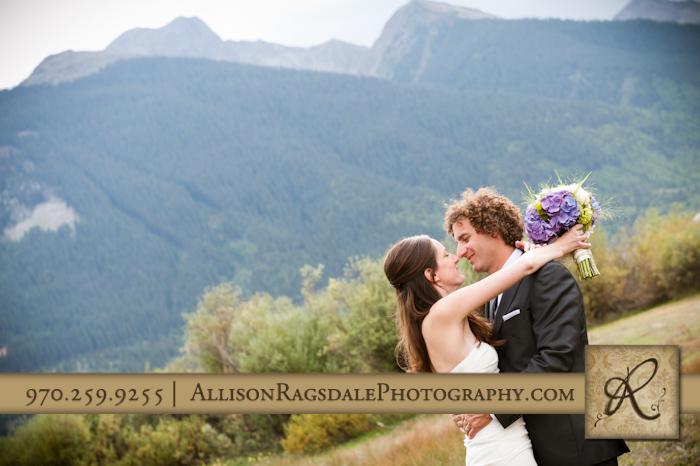 silverton bride and groom portrait
