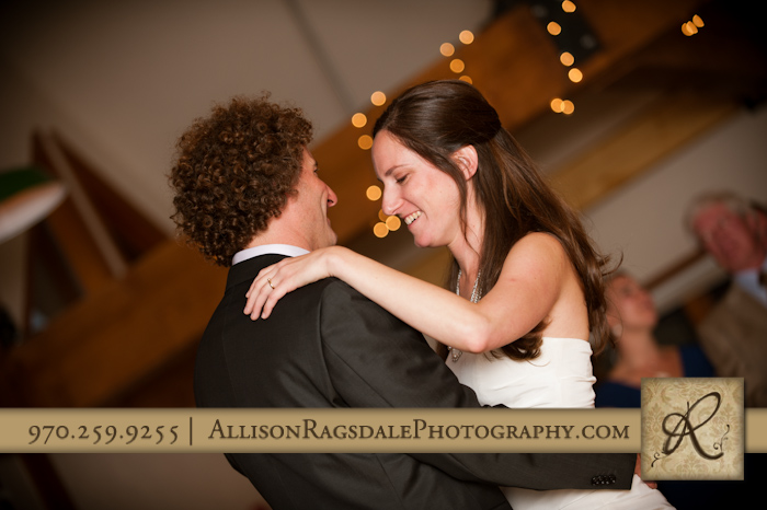 bride and groom first dance silveton co kendall mountain wedding