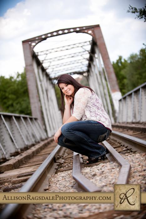 durango silverton train track tresle bridge senior picture