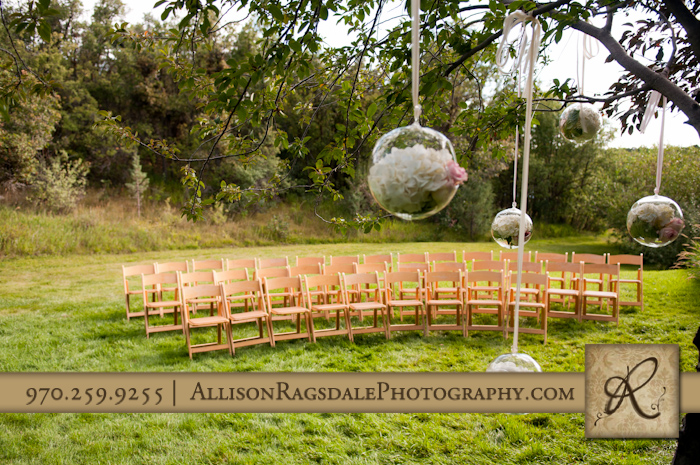wedding ceremony site at blue lake ranch durango co