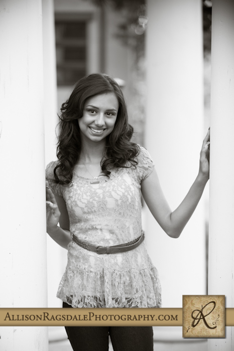 Black and White Urban Senior Pic