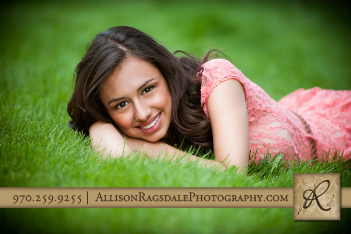 Senior Pic Laying in Grass