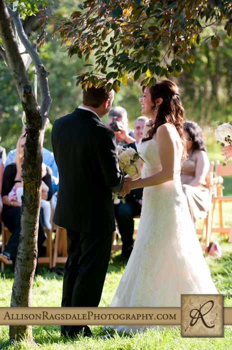 bride and groom laughing wedding ceremony blue lake ranch hesperus