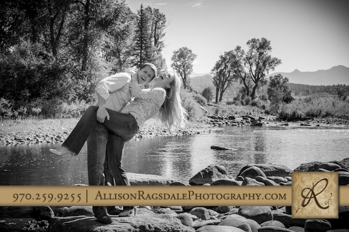 engagement pictures on river pagosa springs co