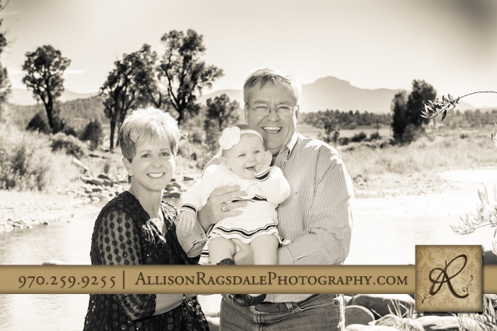 grandparents with grand daughter photo pagosa springs co