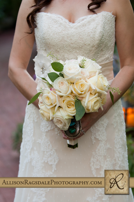 blue lake ranch bride and her bouquet durango co