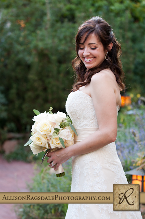 beautiful bride at blue lake ranch durango co
