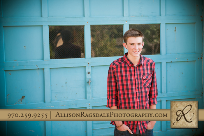 ahs senior guy photo downtown durango