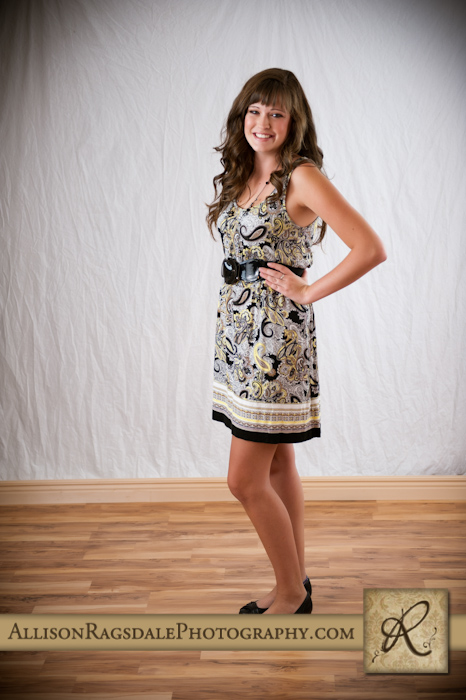 Senior picture in dress