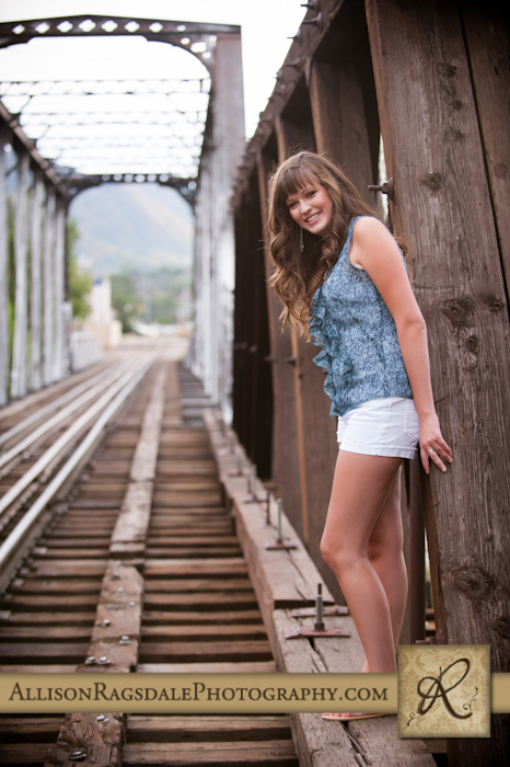Senior picture on bridge