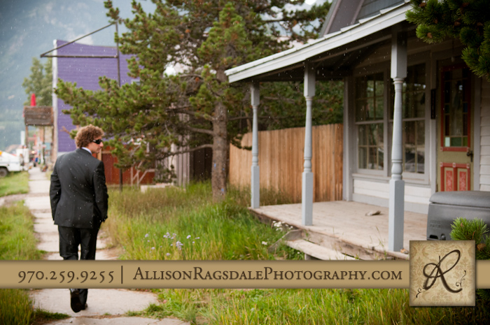 groom walking for first sight of bride wedding in silverton colorado