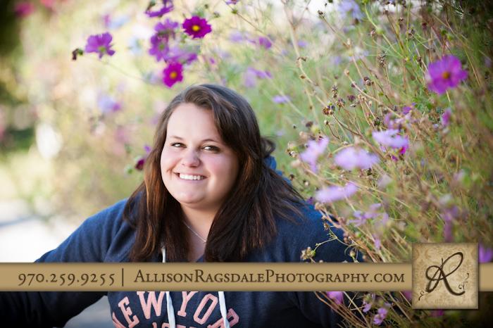 Senior pic in flowers