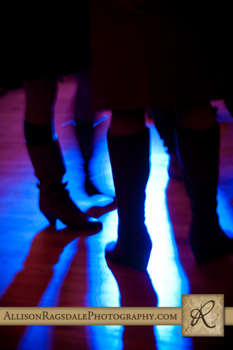 silhouette on the dance floor wedding reception kendall mountain