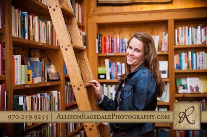 Durango Senior Portrait in Maria's Bookstore