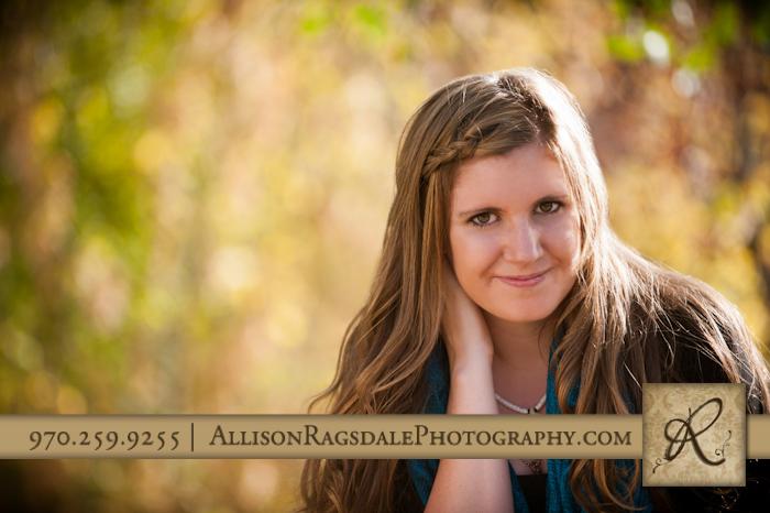 Senior Photos in Fall Colors