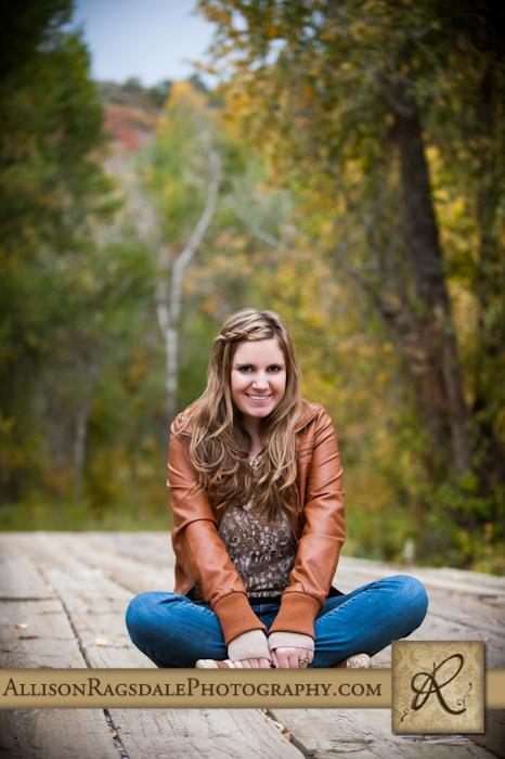 Durango Senior Portraits on wood bridge