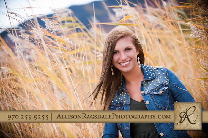 Durango Senior Portrait in tall reeds