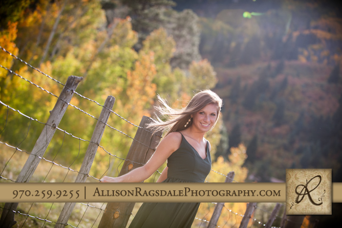 Senior Photos Fall Colors and a fence
