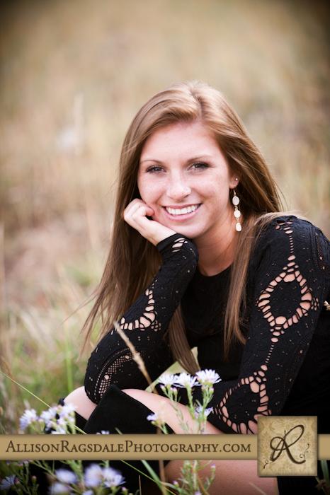 Senior Photos with black dress