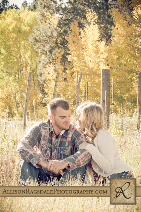 esession pic in long grass fall colors durango colorado
