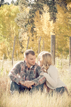 fall leaves picture engagement durango co