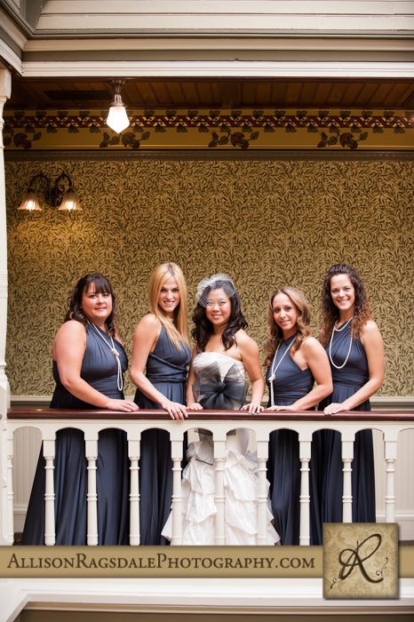 bridal party beaumont hotel ouray co wedding photo
