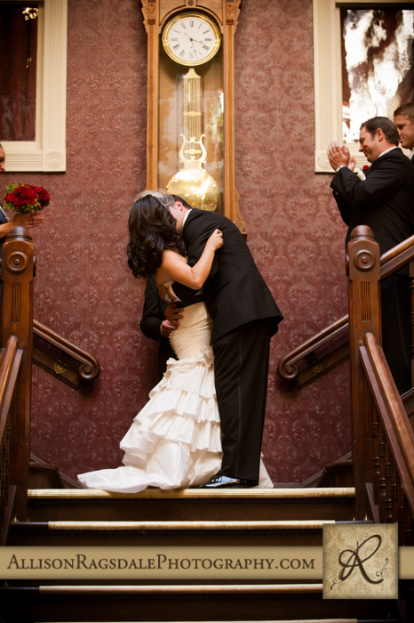 first kiss wedding ceremony beaumont hotel ouray co wedding photo