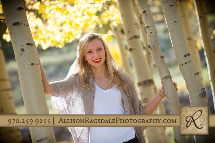 Aspen Tree Senior Picture