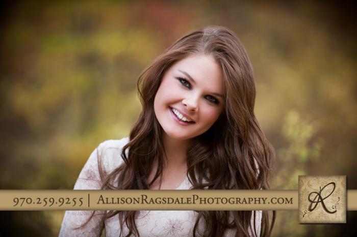 pretty senior girl picture outside durango co fall colors