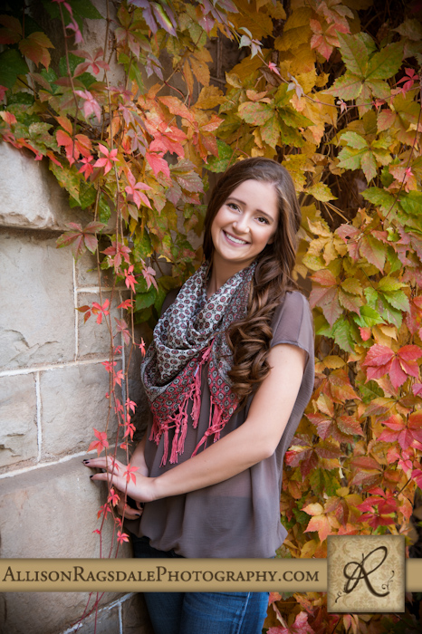 fall senior photo outdoors