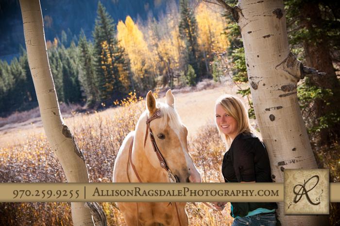 horse and girl senior portrait durango co