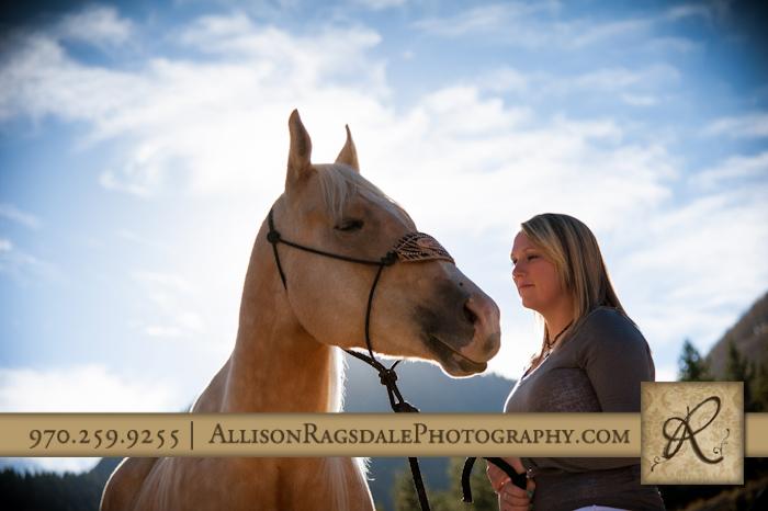 senior girl horse picture durango colorado