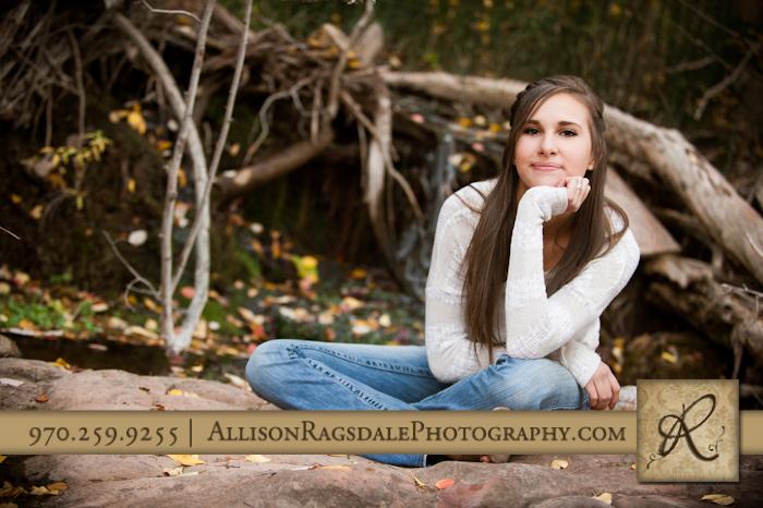 Girl fall senior portraits in Durango