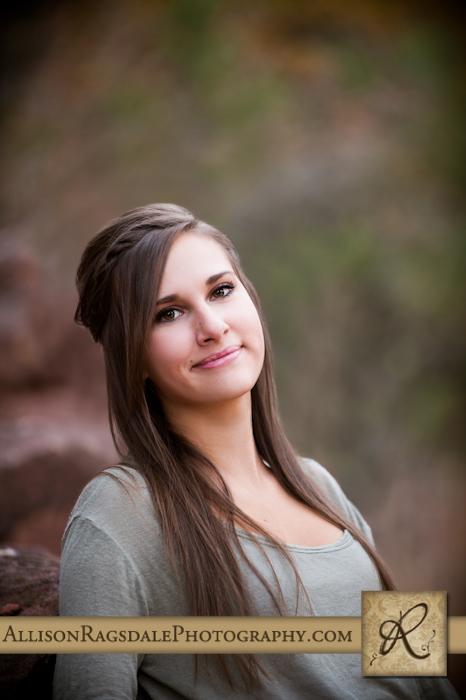 Girl standing in forest senior pic
