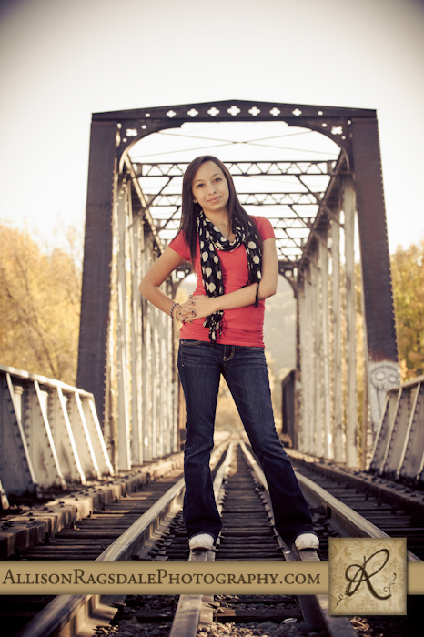 train bridge senior picture